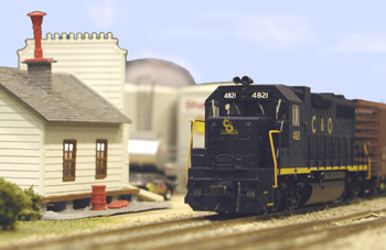 A westbound freight pulls out of Branchton