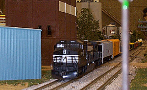 A Norfolk Southern &quot;catfish&quot; GE brings a short freight<br> 