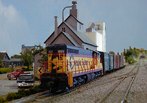 A Chessie freight waits in the
