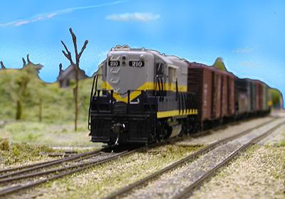 Jeff Fryman's Northern Alberta Railway freight heads out toward the prairies.