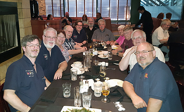 The ORS Road Team at our traditional Teardown Dinner at the end of Higball to Indy 2016