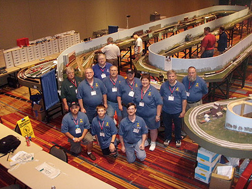 The team that brought the Operations Road Show layout to the NMRA<br/>  National Convention in Hartford, Connecticut in 2009.