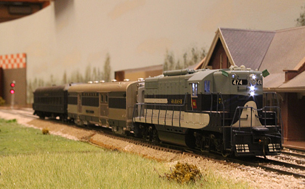 To mark our final operating session 'on the road', we ran a Superintendent's inspection train as<br/>the first section of passenger train Number 4 on Thursday evening.